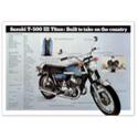 Suzuki T-500 Titan Vintage Motorcycle Poster