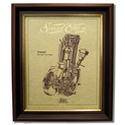 TRIUMPH 200 TIGER CUB Gold Leaf Limited Edition Engine Drawing