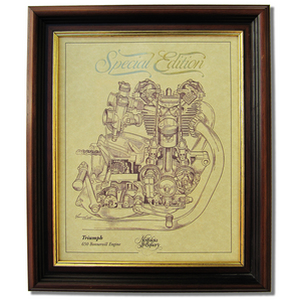 TRIUMPH 650 BONNEVILLE Gold Leaf Limited Edition Engine Drawing