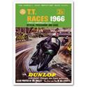 TT Races Dunlop Advertising Poster