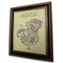 Triumph 1953 Tiger Cub 200cc Gold Leaf Limited Edition Engine Drawing