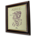 Triumph 500cc Tiger 90 Gold Leaf Limited Edition Engine Drawing