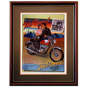 Triumph Bonneville Advertising Poster