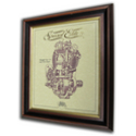 Triumph Tiger 110 Speed Twin Gold Leaf Limited Edition Engine Drawing
