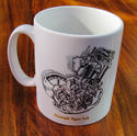 Triumph Tiger Cub Engine Mug