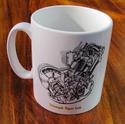 Triumph Tiger Cub Engine Mug
