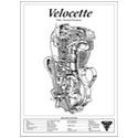 Velocette Venom/Thruxton Engine Spec Poster