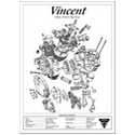 Vincent 1000 HRD Engine Spec Poster