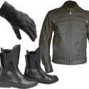 jackets, Trousers, Boots & gloves