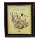 James 200 Gold Leaf Limited Edition Engine Drawing